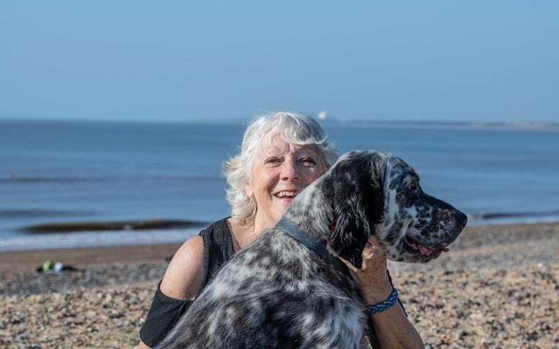 Jan with her dog Jagger - Sarah Lucy Brown