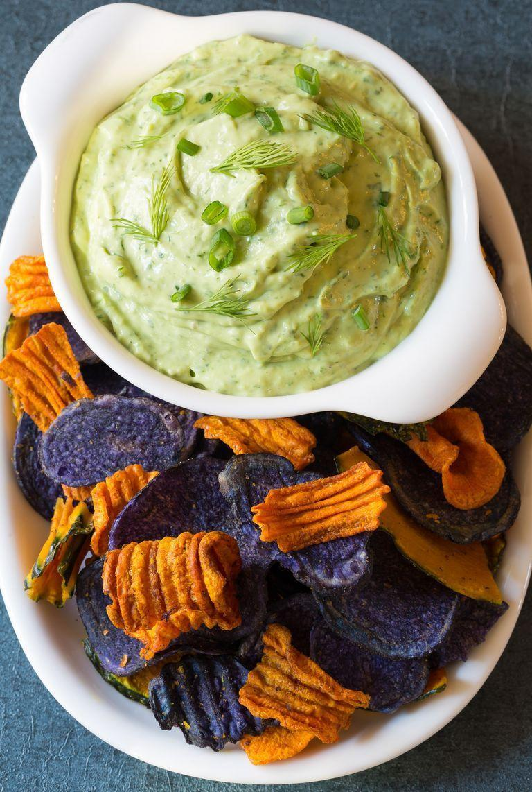 """<p>This is no ordinary ranch dip! It's made with avocados, fresh herbs, and garlic.</p><p><strong><a href=""""https://www.thepioneerwoman.com/food-cooking/recipes/a96671/creamy-avocado-ranch-dip/"""" rel=""""nofollow noopener"""" target=""""_blank"""" data-ylk=""""slk:Get the recipe."""" class=""""link rapid-noclick-resp"""">Get the recipe.</a></strong></p><p><strong><a class=""""link rapid-noclick-resp"""" href=""""https://go.redirectingat.com?id=74968X1596630&url=https%3A%2F%2Fwww.walmart.com%2Fbrowse%2Fhome%2Fthe-pioneer-woman-bowls%2F4044_623679_3480962_3544662&sref=https%3A%2F%2Fwww.thepioneerwoman.com%2Ffood-cooking%2Fmeals-menus%2Fg35049189%2Fsuper-bowl-food-recipes%2F"""" rel=""""nofollow noopener"""" target=""""_blank"""" data-ylk=""""slk:SHOP BOWLS"""">SHOP BOWLS</a><br></strong></p>"""