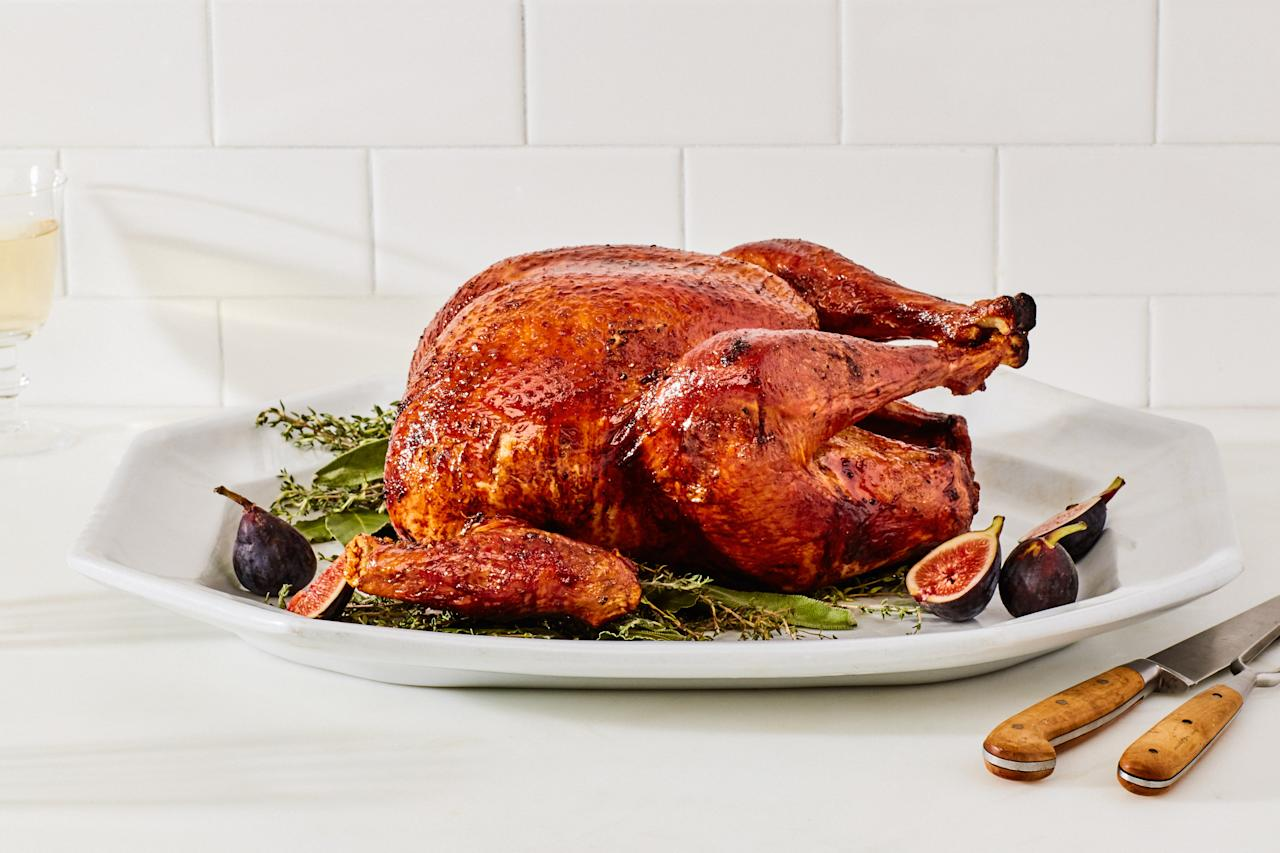 """You'll rejoice as white and dark meat alike come out juicy and tender in a bird you can set and forget—and then enjoy with your guests. <a href=""""https://www.epicurious.com/recipes/food/views/the-simplest-roast-turkey-232985?mbid=synd_yahoo_rss"""">See recipe.</a>"""