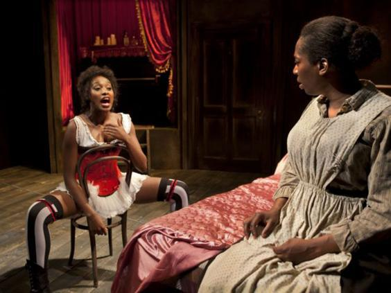 Rochelle Neil and Tanya Moodie in 'Intimate Apparel' at the Park Theatre, 2014