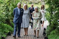 Senior members of the Royal family led by Queen Elizabeth II played host to the G7 leaders at a dinner on Friday