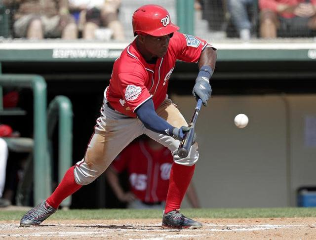 Will there will room for the dynamic Victor Robles on the Nationals opening day roster? (AP)