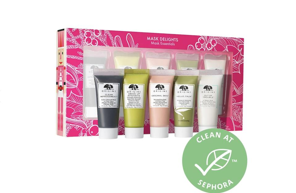 <p>Your skin will thank you for this <span>Origins Mask Delights Mask Essentials Set</span> ($20).</p>