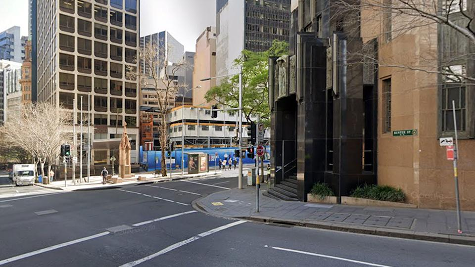 A confirmed Covid cases which is under investigation works in Sydney's CBD. Source: Google Maps
