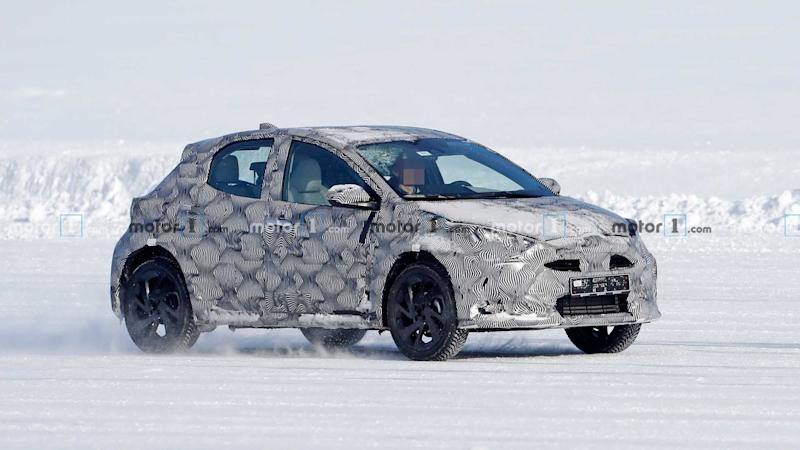 Toyota small crossover test mule spy photo