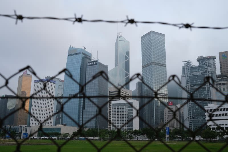 FILE PHOTO: A general view of skyline buildings, in Hong Kong