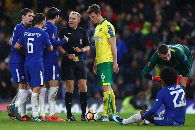 Norwich defender Timm Klose admits Willian deserved penalty after VAR denied Chelsea in FA Cup