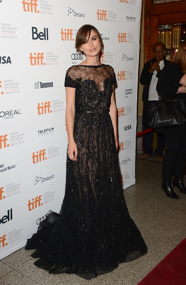 """BEST: Keira Knightley set the fashion bar very high at the premiere of her new drama, an adaptation of """"Anna Karenina."""" This high-necked Elie Saab gown is feminine and dramatic in all the right ways, and if we weren't so sure it was wayyyyy out of our price range, we'd buy the dress ourselves."""