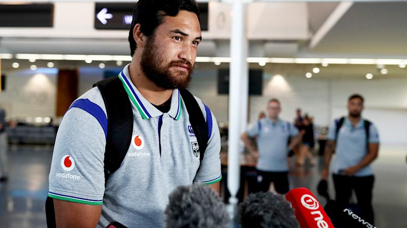 Pita Hiku, pictured here speaking to media after returning to New Zealand.