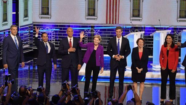 PHOTO: Democratic presidential candidates (Jim Watson/AFP/Getty Images)