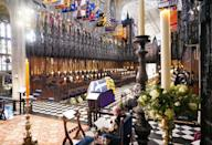 <p>The Royal ceremonial funeral took place inside St George's Chapel at Windsor Castle – previously the site of happier occasions, including the weddings of Prince Harry and Meghan Markle, and Princess Eugenie and Jack Brooksbank. </p>