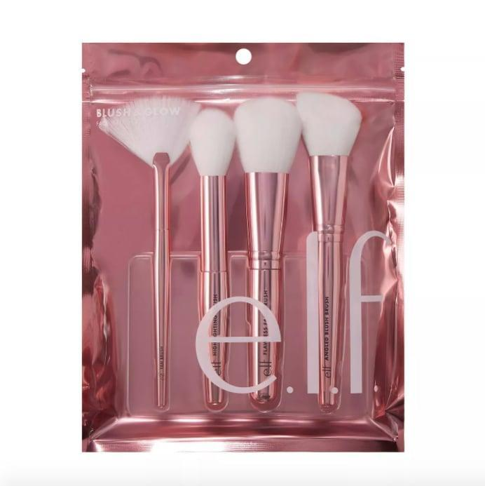 <p>Makeup brushes are one of the most underrated gifts for beauty lovers. The <span>E.l.f. Blush & Glow Brush Kit</span> ($14) includes four face brushes for highlighter, bronzer, powder, and blush.</p>