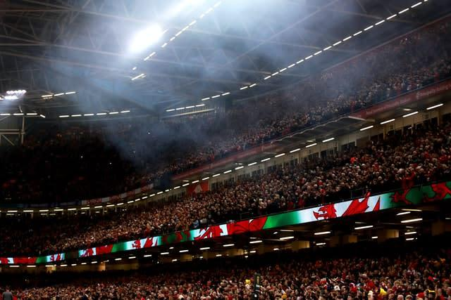 Scotland's trip to the Principality Stadium in Cardiff was postponed (PA).