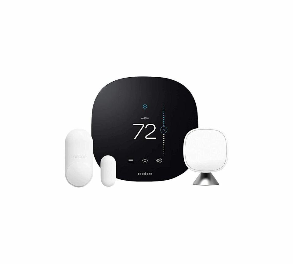 """<p><strong>ecobee</strong></p><p>amazon.com</p><p><strong>$224.99</strong></p><p><a href=""""https://www.amazon.com/dp/B08LMSX7J5?tag=syn-yahoo-20&ascsubtag=%5Bartid%7C10060.g.37002628%5Bsrc%7Cyahoo-us"""" rel=""""nofollow noopener"""" target=""""_blank"""" data-ylk=""""slk:Shop Now"""" class=""""link rapid-noclick-resp"""">Shop Now</a></p><p>Though the Ecobee3 Lite doesn't have an Alexa speaker built in, it's designed to be adaptable in terms of connectivity, working well with any other smart home setup. Despite its abundance of connectivity options, however, the Lite just isn't as """"smart"""" as some other thermostats. You can certainly purchase Ecobee's room sensors separately to use with it, but it doesn't have any sensors included.</p><p> Unlike the most advanced Ecobee and Google Learning thermostat, the Ecobee3 Lite doesn't have the smart tech that learns your schedule and adapts temperatures accordingly, so it mostly functions as a standard seven-day programmable thermostat—just with more smart home connectivity options to control it remotely. Like the higher-priced Ecobee, however, this basic version is still easy to install and comes with the same Eco+ software, plus has a similar design with its responsive 3.5-inch color touchscreen.</p>"""