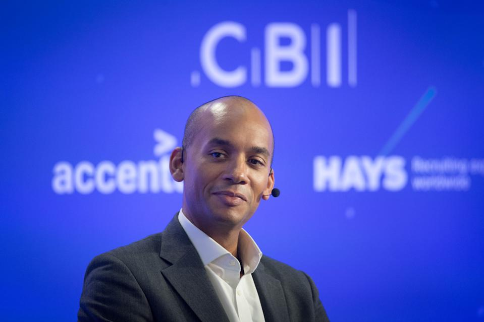 Former MP Chuka Umunna takes part in a discussion about the UK's role on the world stage, during the CBI annual conference at ITN Headquarters in central London. Photo: Stefan Rousseau/PA via Getty