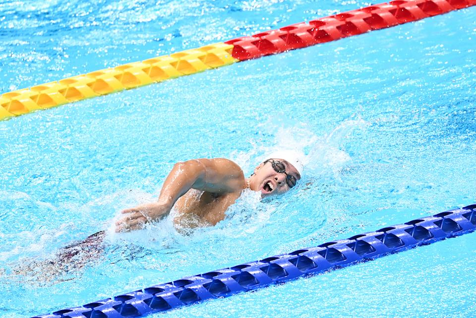 Singapore swimmer Toh Wei Soong competes in the men's 400m freestyle (S7) heats at the 2020 Tokyo Paralympics. (PHOTO: Sport Singapore)
