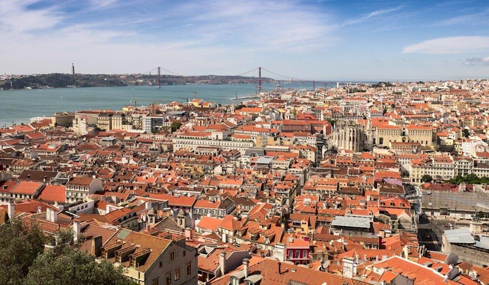 An aerial view of the historical centre of Lisbon from the Castle of Saint George. Photo: Shutterstock