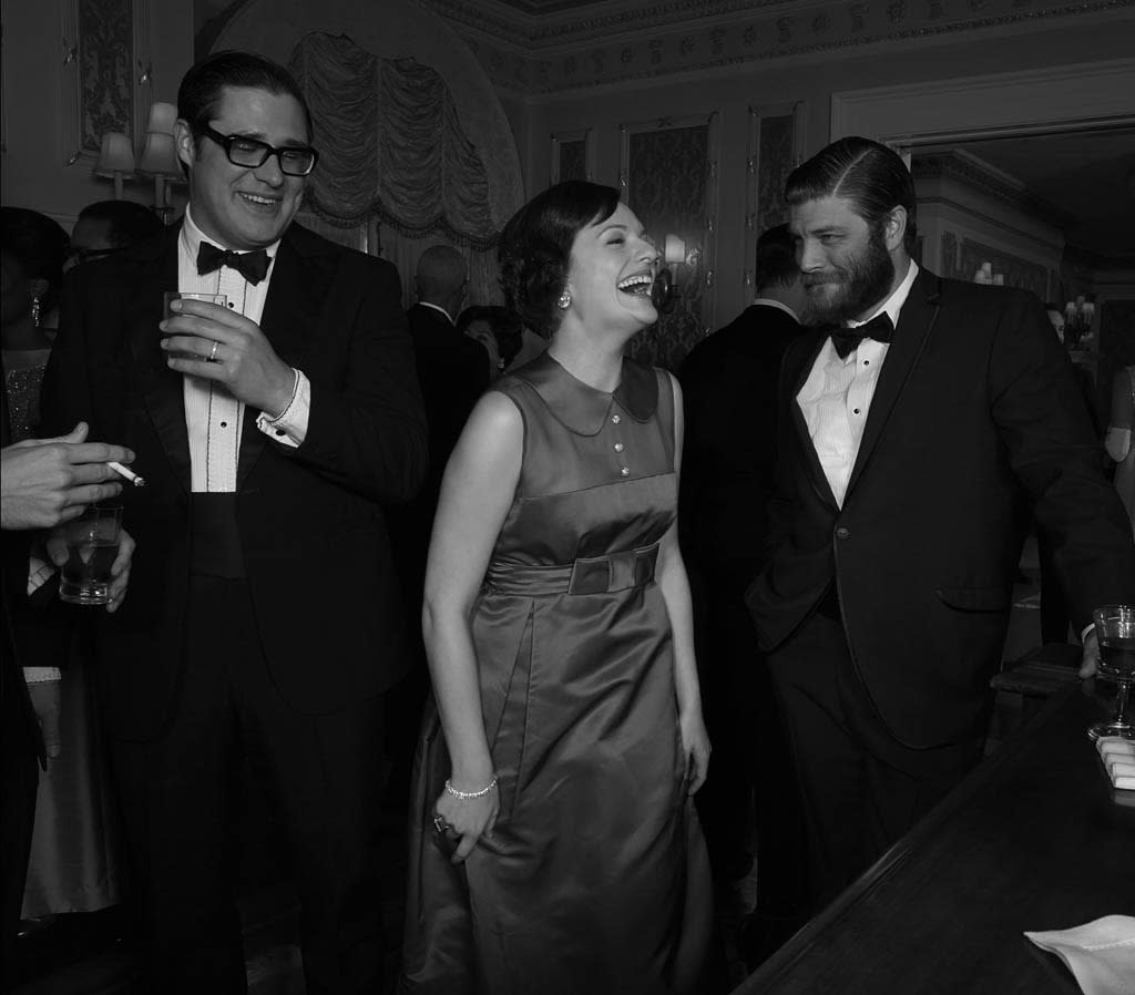 Harry Crane (Rich Sommer), Betty Francis (January Jones) and Stan Rizzo (Jay R. Ferguson) - Mad Men - Season 6