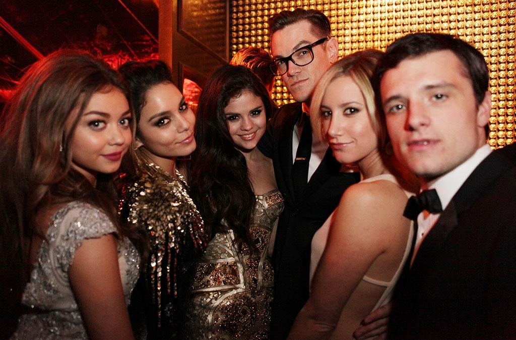 Sarah Hyland, Vanessa Hudson, Selena Gomez, Ashley Tisdale and Josh Hutcherson attends the The Weinstein Company's 2013 Golden Globe Awards after party presented by Chopard, HP, Laura Mercier, Lexus, Marie Claire, and Yucaipa Films held at The Old Trader Vic's at The Beverly Hilton Hotel on January 13, 2013 in Beverly Hills, California.