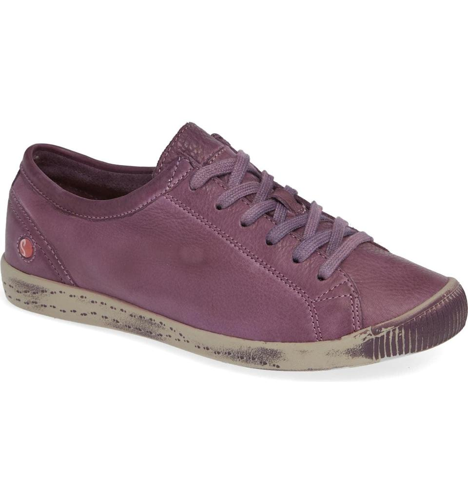 <p><span>Fly London's Isla Distressed Sneaker</span> ($90, originally $175) comes in this gorgeous plum tone.</p>