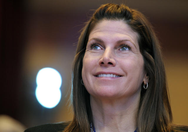 Mary Bono spent less than a week as USA Gymnastics interim CEO and president. (AP Photo/Cliff Owen, File)