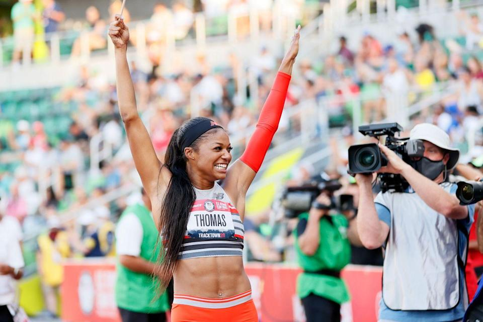 <p><strong>Sport: </strong>Track & Field</p><p>At the Olympic trials in June, the 24-year-old Harvard graduate ran the fastest 200m since Florence Griffith Joyner set a record in the event 33 years ago at the Seoul Olympics. Thomas is also currently studying for a masters in epidemiology.<br></p>