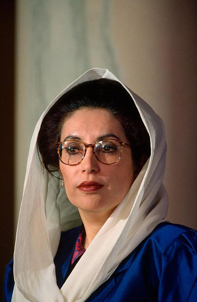 <p>Former Prime Minister of Pakistan Benazir Bhutto, who served from 1988 to 1990, and again from 1993 to 1996 (and was assasinated in 2007) is the only other leader in modern history to give birth while in office. (Photo: Getty Images) </p>