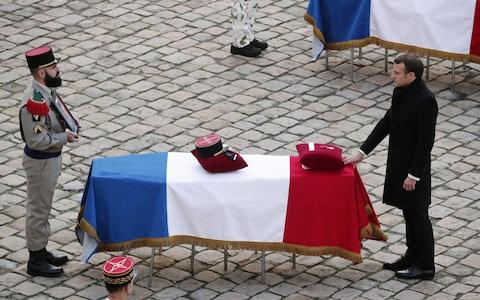 National tribute ceremony to the 13 French soldiers killed in Mali, Paris, France  - Credit: CHRISTOPHE PETIT TESSON/EPA-EFE/REX