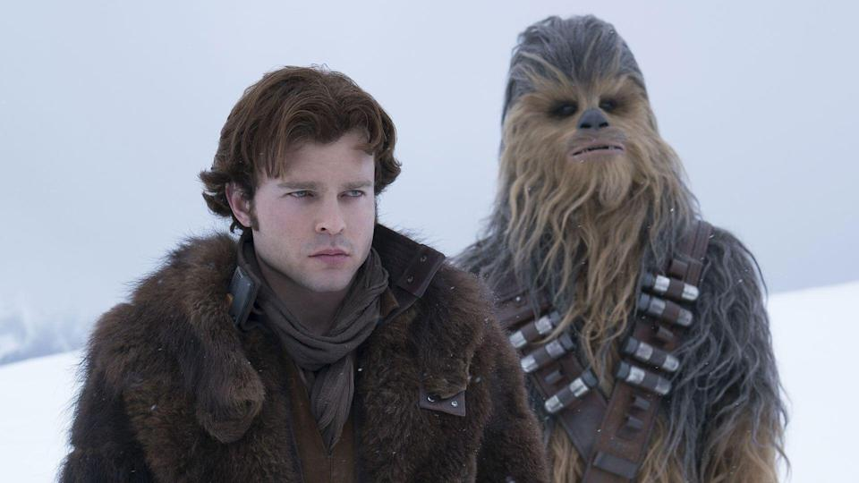 Alden Ehrenreich is Han Solo and Joonas Suotamo is Chewbacca in SOLO: A STAR WARS STORY. (Jonathan Olley/Lucasfilm Ltd. & ™, All Rights Reserved)