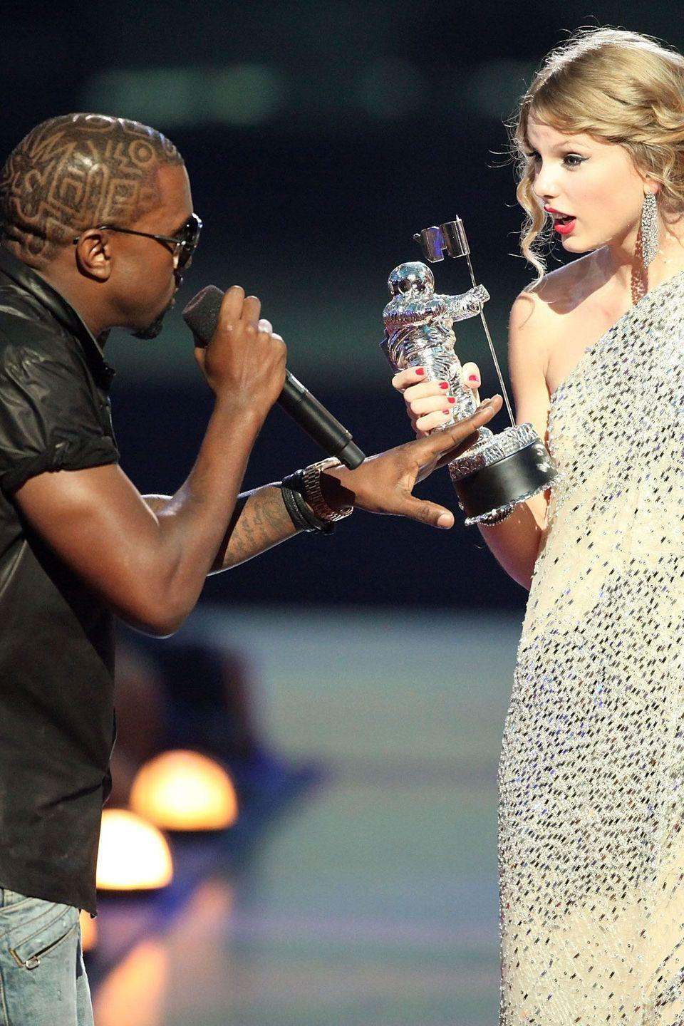 <p>I'mma let you finish, but West and Swift have one of the greatest feuds of all time. When West stormed the stage to interrupt Swift's acceptance speech for Best Female Video at the MTV Video Music Awards, he set off a chain of events that still affect that artists' careers today, fueling her homegrown underdog image and his of an unhinged wild card. Spoiler alert: Check out the 2016 slide.</p>