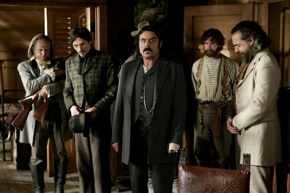 "<p><em>Deadwood</em> is the kind of period piece that feels like it just <em>belongs</em> on HBO. The drama, set in a lawless mining town in post-Civil War America, is one of HBO's most recognizable exports.</p><p><a class=""link rapid-noclick-resp"" href=""https://play.hbonow.com/series/urn:hbo:series:GVU2b2A6ZF47DwvwIAT34?camp=Search&play=true"" rel=""nofollow noopener"" target=""_blank"" data-ylk=""slk:Watch Now"">Watch Now</a></p>"