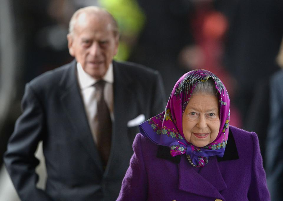 File photo dated 21/12/17 of Queen Elizabeth II and the Duke of Edinburgh alight from a train at King's Lynn station in Norfolk after travelling from London at the start of her traditional Christmas break, which she will spend on the Royal estate at Sandringham. The Duke of Edinburgh has died, Buckingham Palace has announced. Issue date: Friday April 9, 2020.. See PA story DEATH Philip. Photo credit should read: Joe Giddens/PA Wire