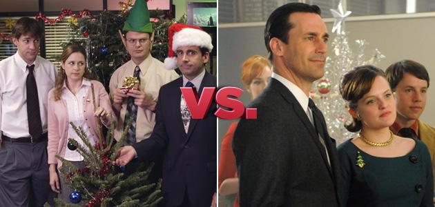 the office vs mad men - The Office Christmas