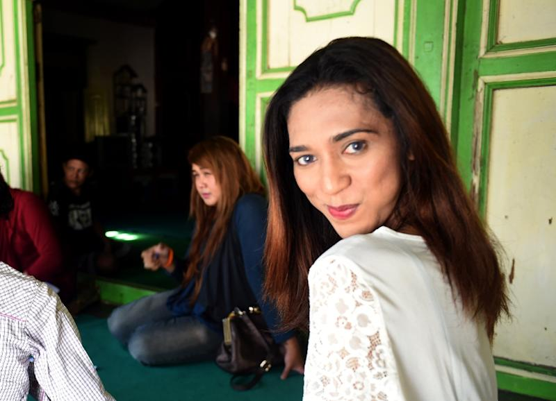 Participants take part in a study group at Indonesia's only Islamic transgender boarding school -- Al Fatah
