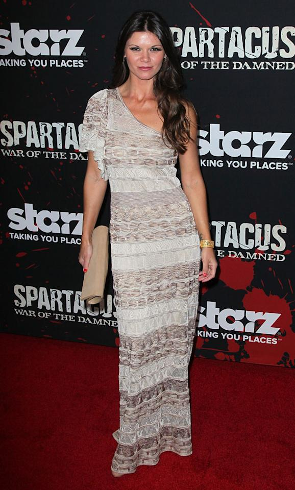"Danielle Vasinova attends the premiere of Starz's ""Spartacus: War of the Damned"" at Regal Cinemas L.A. Live on January 22, 2013 in Los Angeles, California."