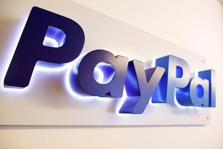 FILE PHOTO: The PayPal logo is seen at a high-tech park in Beersheba, southern Israel August 28, 2017.   REUTERS/Amir Cohen/File Photo