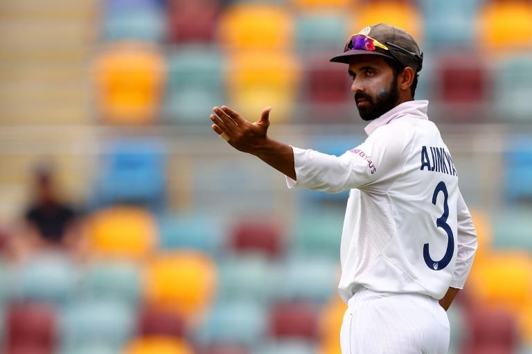 India's captain Ajinkya Rahane instructs his fielders during the epic Test victory against Australia at the Gabba