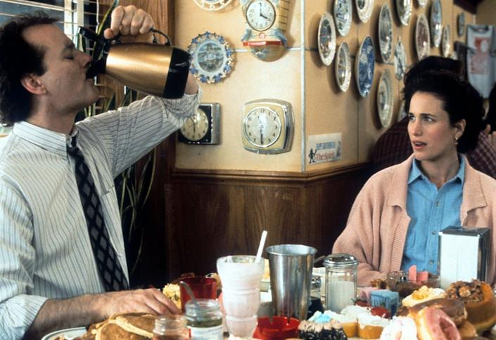 """<span class=""""caption"""">Bill Murray and Andie MacDowell in a scene from the film 'Groundhog Day.'</span> <span class=""""attribution""""><a class=""""link rapid-noclick-resp"""" href=""""https://www.gettyimages.com/detail/news-photo/bill-murray-and-andie-macdowell-in-a-scene-from-the-film-news-photo/163063765?adppopup=true"""" rel=""""nofollow noopener"""" target=""""_blank"""" data-ylk=""""slk:Columbia Pictures/Getty Images"""">Columbia Pictures/Getty Images</a></span>"""