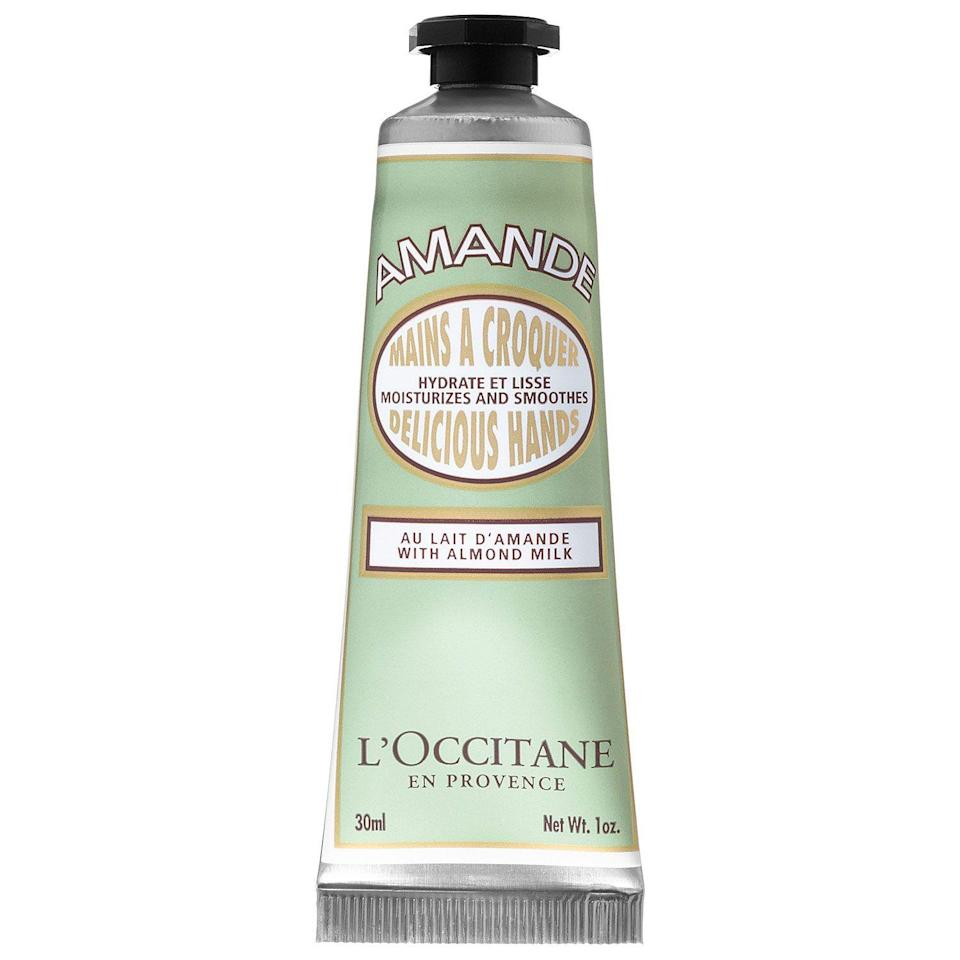 """<p><strong>L'Occitane</strong></p><p>sephora.com</p><p><strong>$12.00</strong></p><p><a href=""""https://go.redirectingat.com?id=74968X1596630&url=https%3A%2F%2Fwww.sephora.com%2Fproduct%2Fhand-creams-P307907&sref=https%3A%2F%2Fwww.womansday.com%2Flife%2Fg24378973%2Fbest-gifts-for-boss%2F"""" rel=""""nofollow noopener"""" target=""""_blank"""" data-ylk=""""slk:Shop Now"""" class=""""link rapid-noclick-resp"""">Shop Now</a></p><p>Constantly typing and going through papers can really dry out your hands, so having a hand cream at your desk is a lifesaver. This one has almost 2,000 positive reviews online that tout its """"no sticky residue"""" and """"amazing smell."""" </p>"""