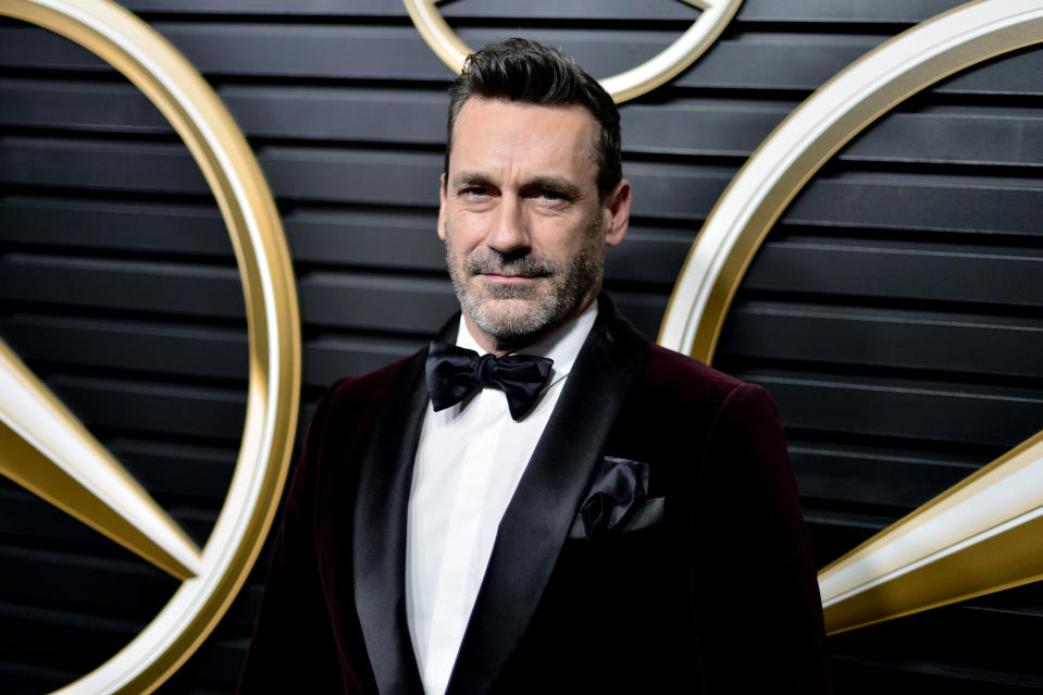 Jon Hamm attends the Mercedes-Benz Annual Academy Viewing Party on February 09, 2020. (Photo by Jerod Harris/Getty Images)