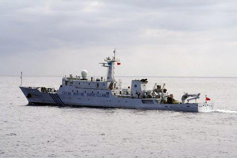 A Chinese marine surveillance ship cruising near disputed islands in the East China Sea on October 20, 2012