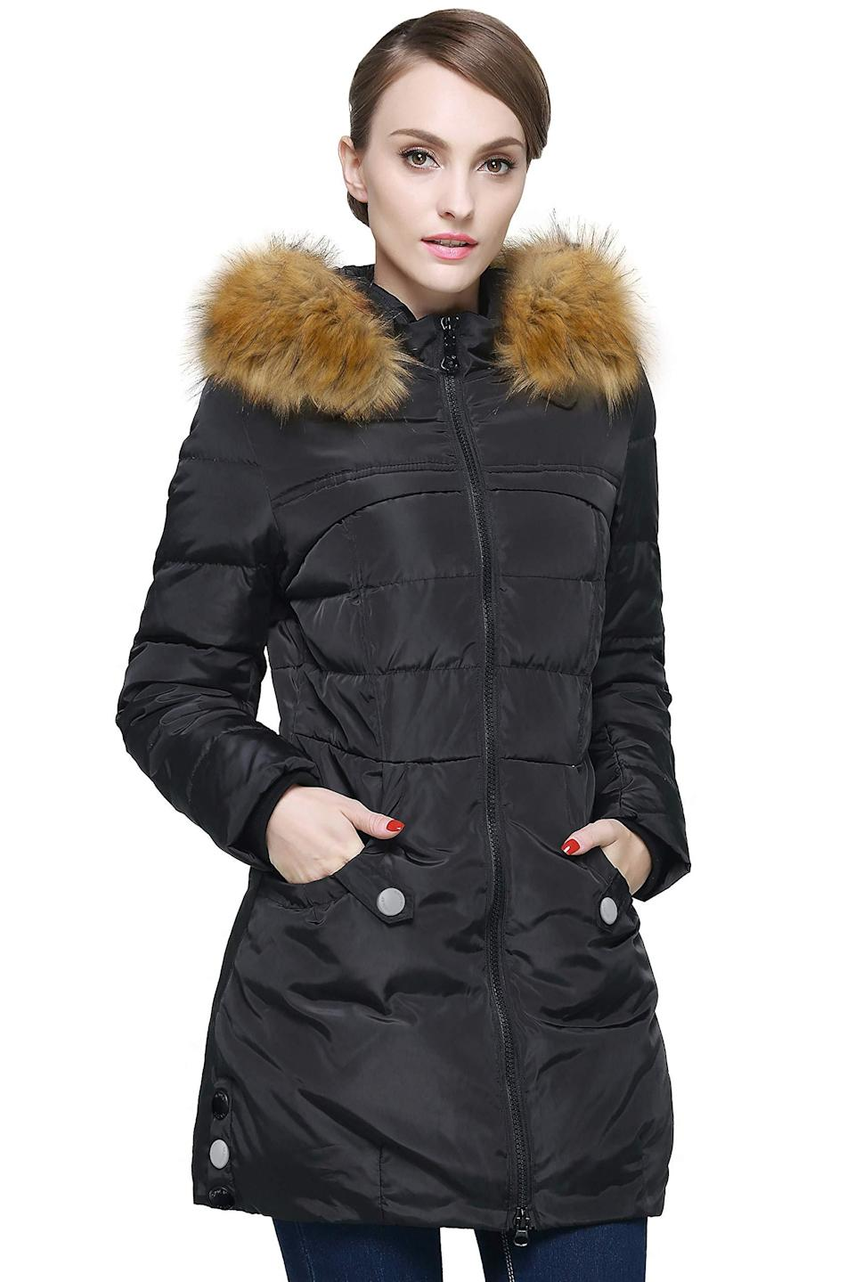 """<h2>Orolay Down Jacket With Faux-Fur Trim</h2><br>It's the infamous Amazon coat that first caught trend-fire on cool-moms in the streets of Brooklyn and then quickly took over the online-shopping scene as a top-bought, affordable, and very stylish-looking hidden outerwear gem — and it's currently 20% off for Prime Day. """"I ordered this on a Lightning Deal for around $60, and I cannot believe the quality! Super warm (I tested it this morning in 20 degrees, 20 mph winds, and snow in Michigan), and flattering fit. Zipper seems very substantial and strong, the hood is a good size and the fur is not cheap looking at all. Nice stretchy ribbed fabric at wrists help seal out the cold, too. Great winter coat especially for the price!"""" one cozy-chic customer attests.<br><br><strong>4.3 out of 5 stars and 1,245 reviews</strong><br><br><strong>Orolay</strong> Down Jacket with Faux Fur Trim Hood, $, available at <a href=""""https://amzn.to/33Y8gJb"""" rel=""""nofollow noopener"""" target=""""_blank"""" data-ylk=""""slk:Amazon"""" class=""""link rapid-noclick-resp"""">Amazon</a>"""