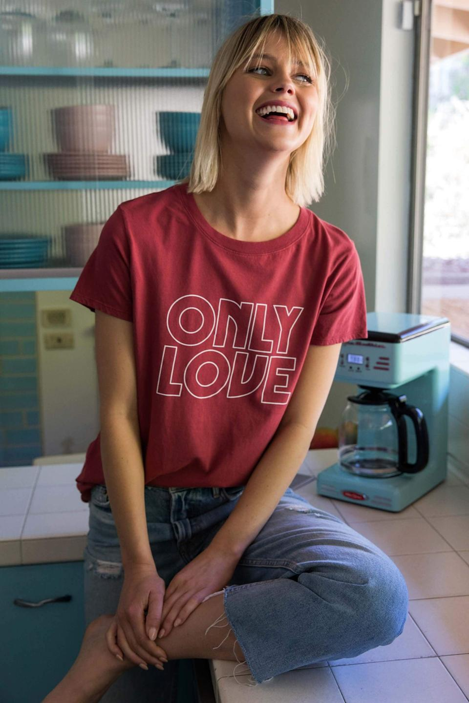 <p>Celebrate the good with this cute <span>Sub_Urban Riot Only Love Loose Tee</span> ($44).</p>