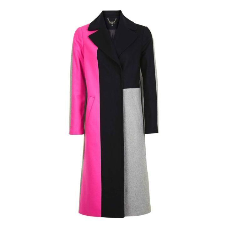 <p>This beautiful, longline colourblock coat will jazz up any old outfit – and last for years. A great investment piece. </p>