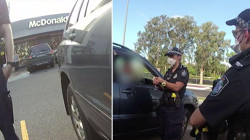 A man from Woree, Queensland, breach quarantine directions to go to McDonald's. Source: Queensland Police