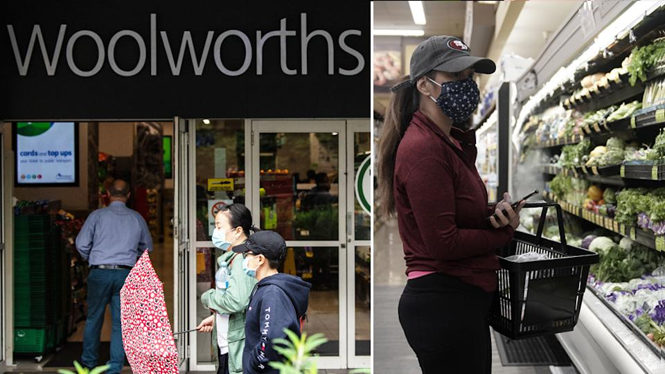 Woolworths customers in Melbourne will now have to wear face masks in store.