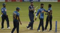 India's captain Shikhar Dhawan walks off the pitch after defeating Sri Lanka by seven wickets in their first one day international cricket match in Colombo, Sri Lanka, Sunday, July 18, 2021. (AP Photo/Eranga Jayawardena)