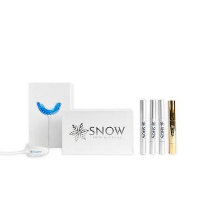 "<h3>Snow All-In-One Teeth Whitening Kit<br></h3><br>This choice Bed Bath & Beyond find has hydrogen peroxide to deliver visibly brighter teeth in as quickly as one week.<br><br><strong>Snow</strong> All-In-One Teeth Whitening Kit, $, available at <a href=""https://go.skimresources.com/?id=30283X879131&url=https%3A%2F%2Fwww.bedbathandbeyond.com%2Fstore%2Fproduct%2Fsnow-all-in-one-teeth-whitening-kit%2F5484738%3Fkeyword%3Dwhitening-kit"" rel=""nofollow noopener"" target=""_blank"" data-ylk=""slk:Bed Bath & Beyond"" class=""link rapid-noclick-resp"">Bed Bath & Beyond</a>"