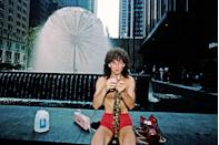 <p>The singer sets up shop on a street in New York City with nothing but his saxophone and a pair of red hot short-shorts. </p>