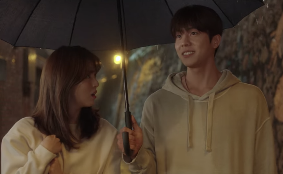 Han So-hee (left) and Chae Jong-hyeop in Nevertheless.